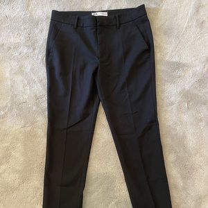 Black polyester dress pants